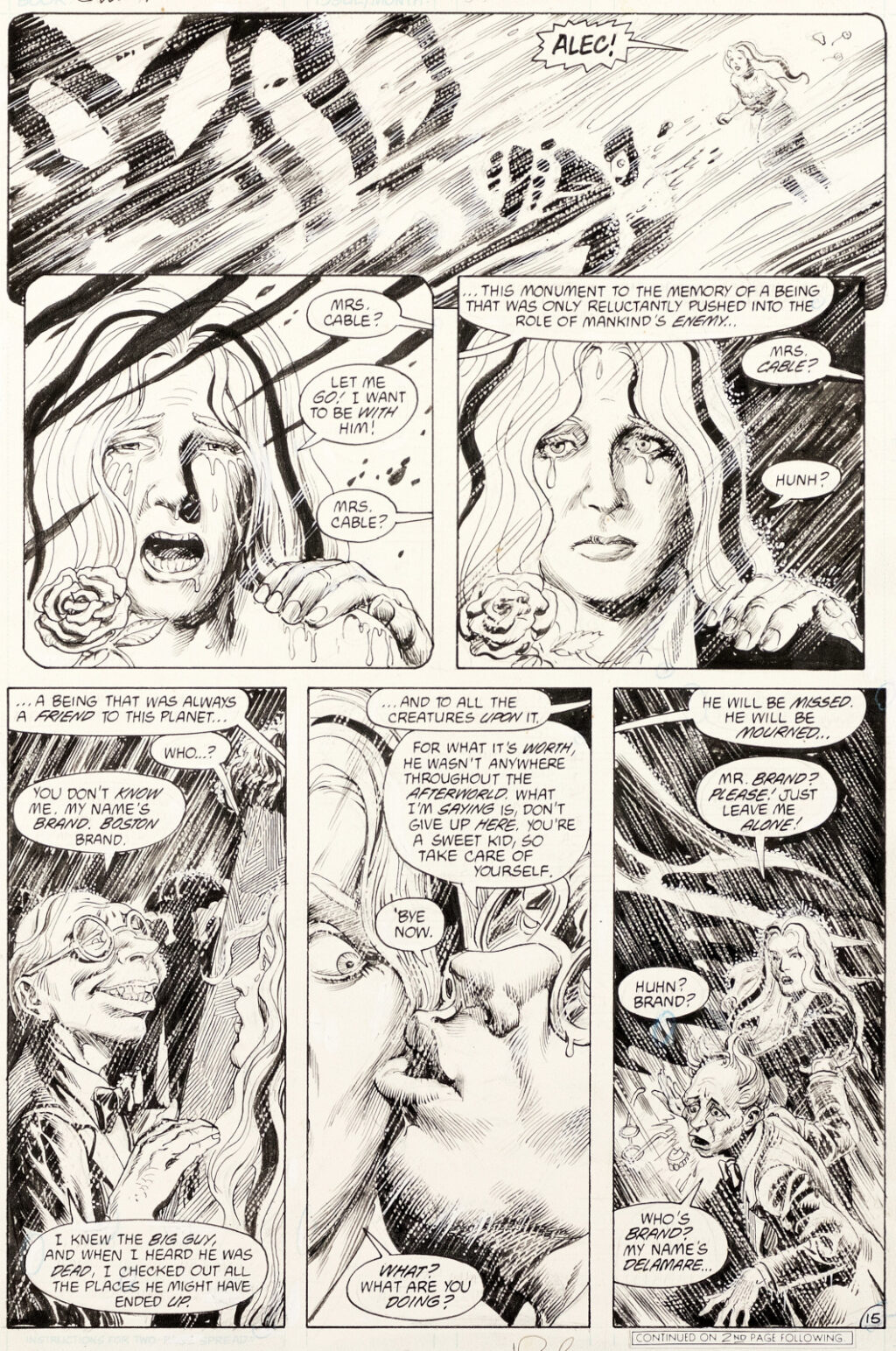 Swamp Thing issue 55 Pages 15 by Rick Veitch and Alfredo Alcala