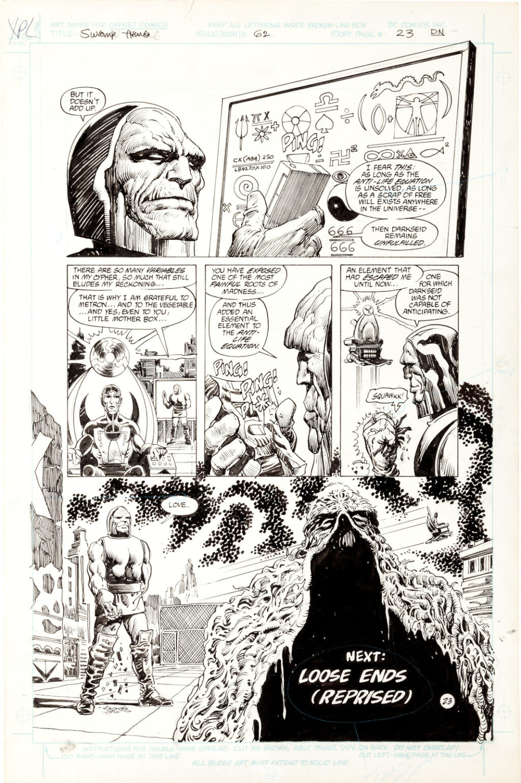 Swamp Thing issue 62 Pages 23 by Rick Veitch and Alfredo Alcala