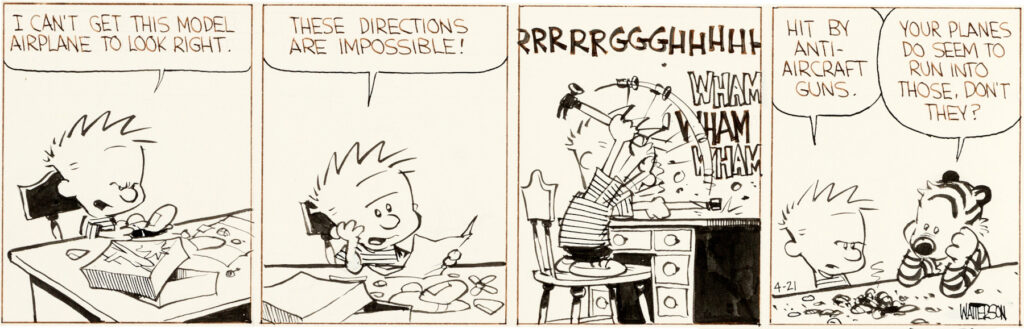 Bill Watterson Calvin and Hobbes Daily 4 21 86