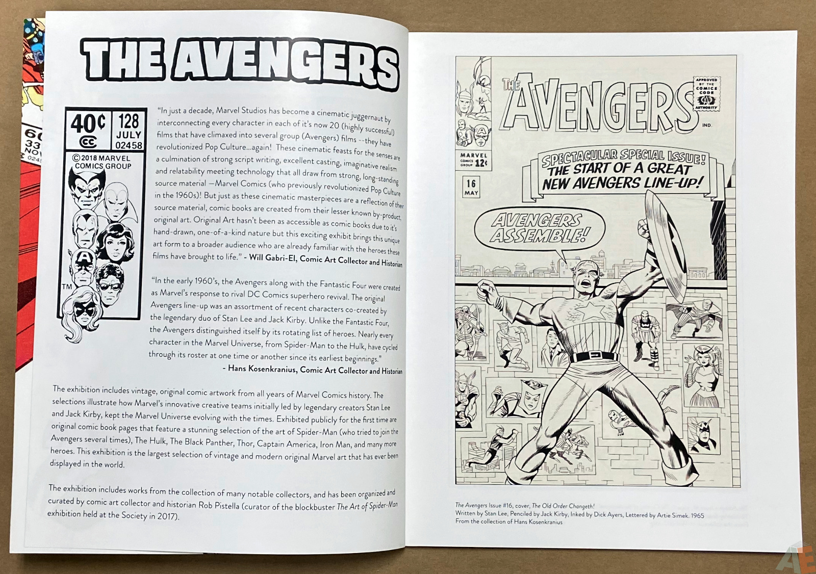 The Art of The Avengers and Other Heroes Exhibition Catalog interior 1