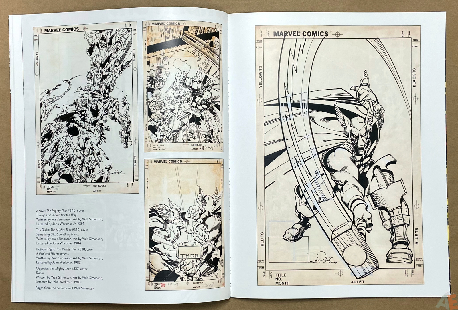 The Art of The Avengers and Other Heroes Exhibition Catalog interior 4