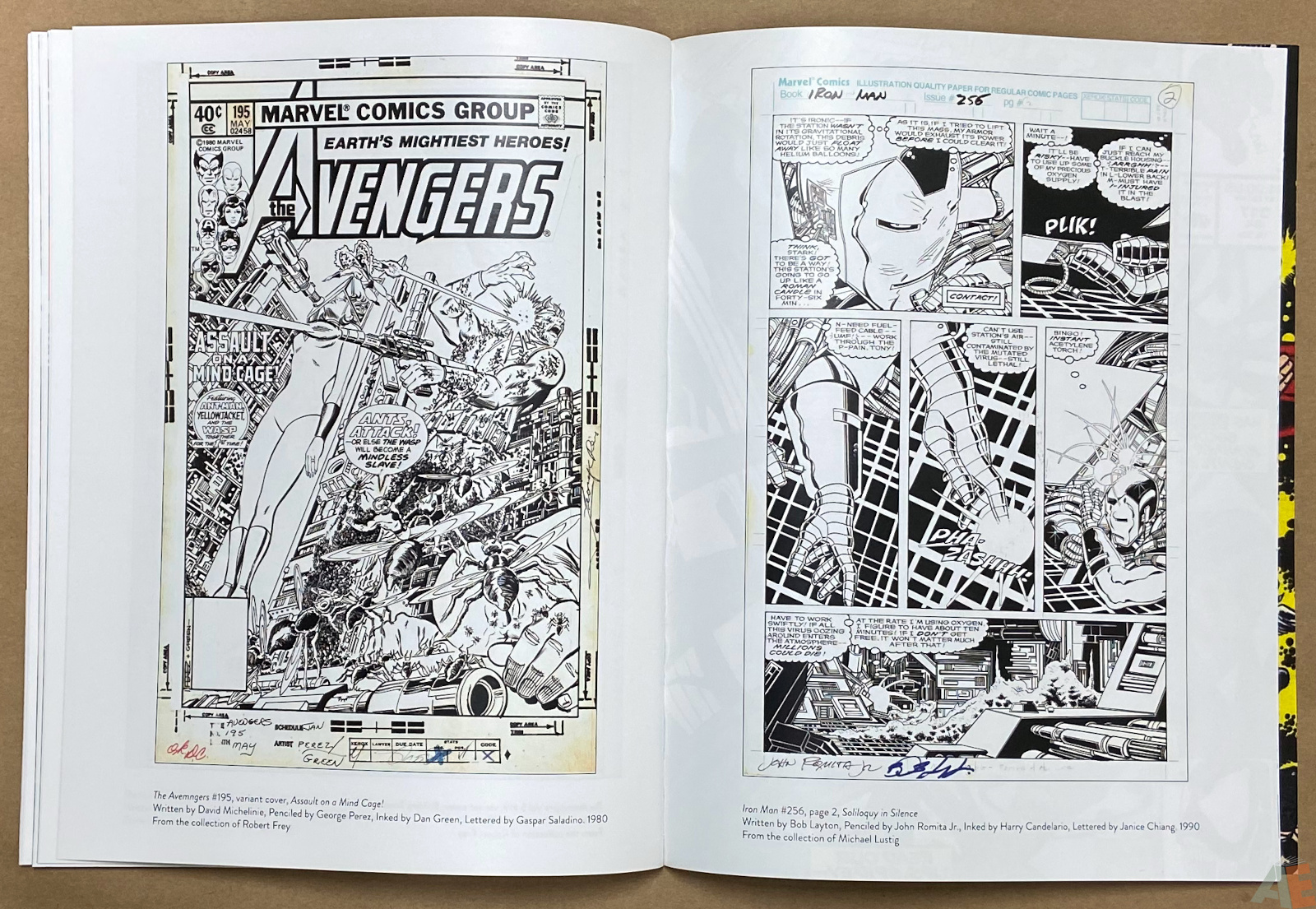 The Art of The Avengers and Other Heroes Exhibition Catalog interior 6