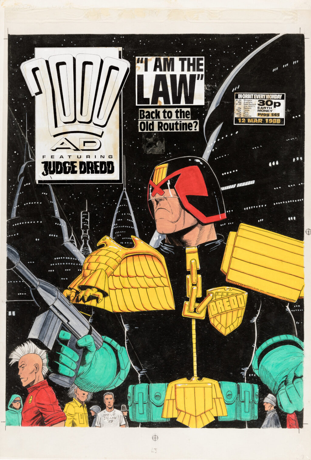 2000 AD issue 571 cover by Steve Dillon