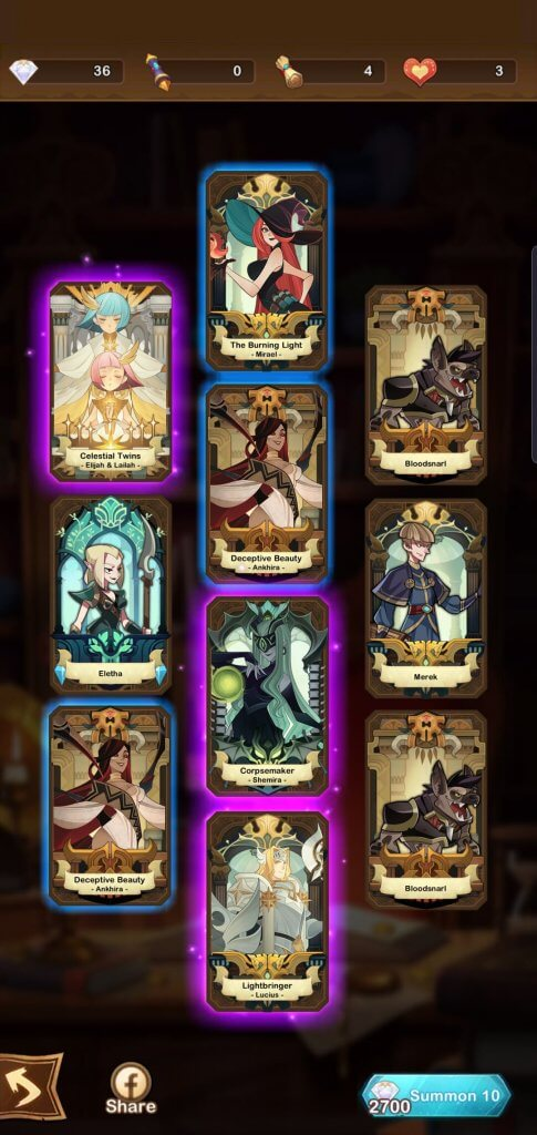 opening cards while playing afk arena pc
