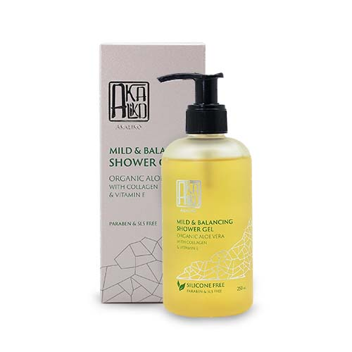 Organic Aloe Vera with Collagen and Vitamin E Shower Gel