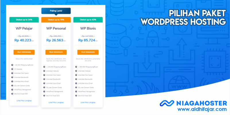 Pilihan Paket WordPress Hosting