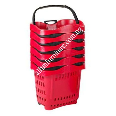 plastic shopping basket trolley