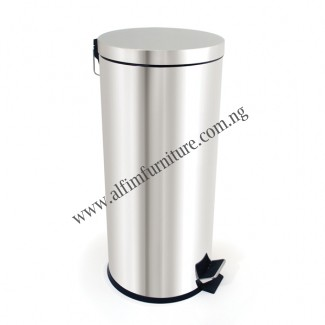 Stainless pedal waste bin