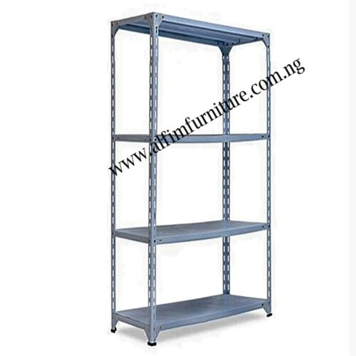 bolted steel shelves