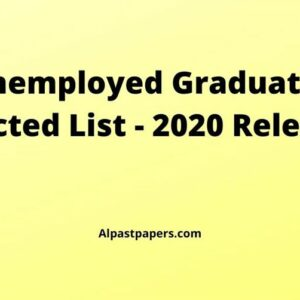 Unemployed-Graduates-Selected-List-2020-Released