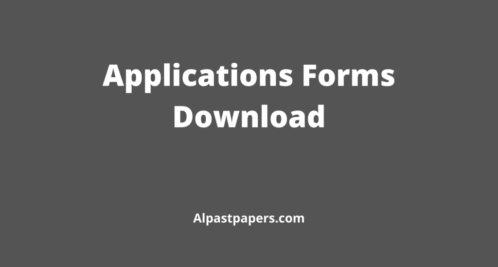 Application Form Download