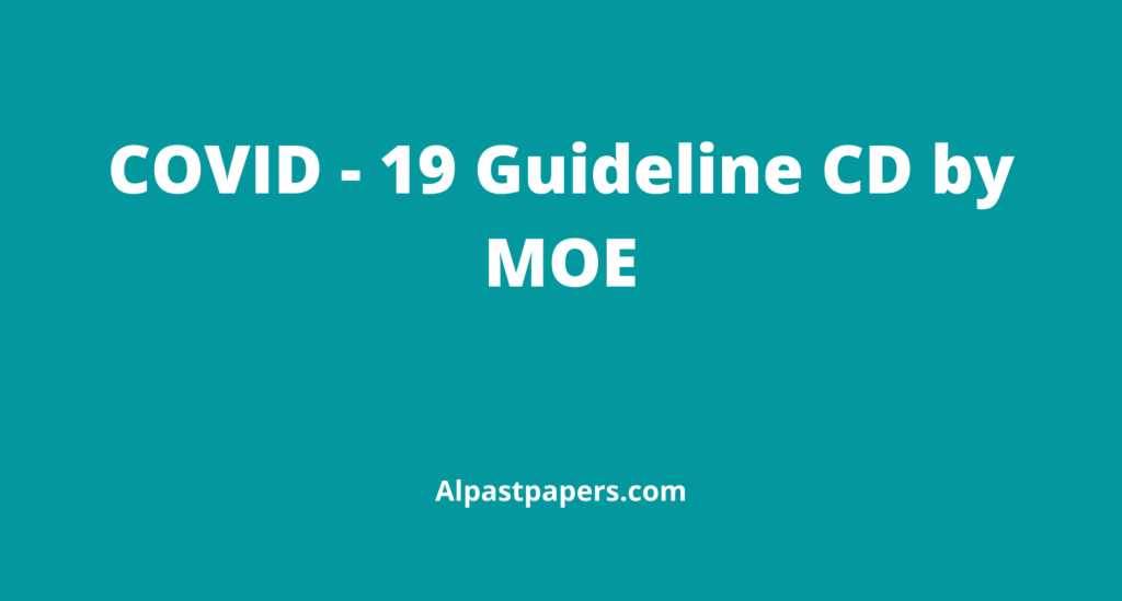 Covid -19 Guidelines CD - Ministry of Education