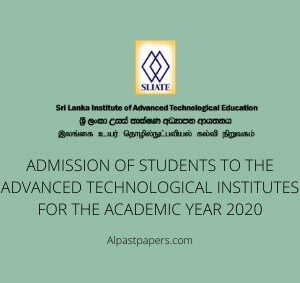 ADMISSION OF STUDENTS TO THE ADVANCED TECHNOLOGICAL INSTITUTES FOR THE ACADEMIC YEAR 2020