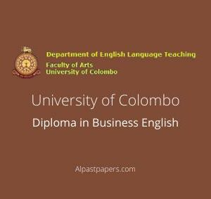 University of Colombo Diploma in Business English