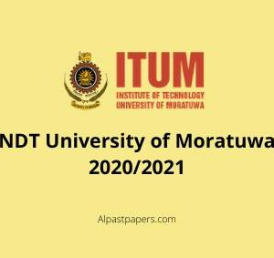 NDT University of Moratuwa 2020-2021