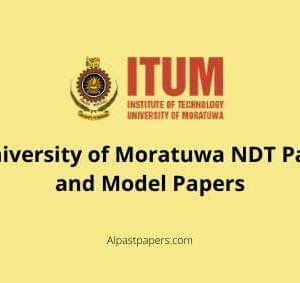 University of Moratuwa NDT Past and Model Papers