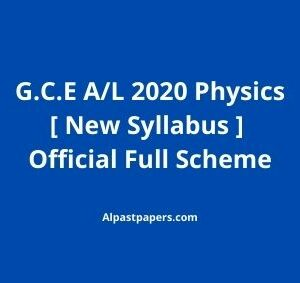 GCE-AL-2020-Physics-New-Syllabus-Full-Official-Scheme