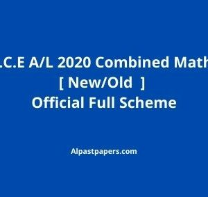 Combined Old/New Mathematics 2020 Marking Scheme