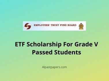 ETF Scholarship For Grade V Passed Students
