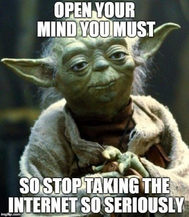 open your mind you must yoda