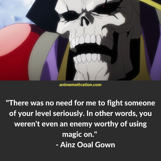 Ainz Ooal Gown quotes 8