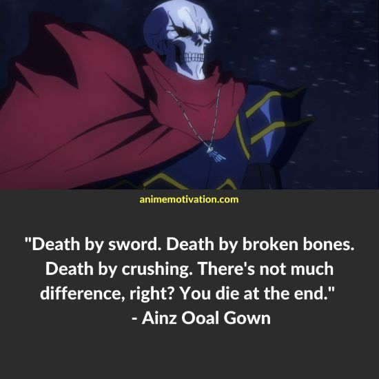Ainz Ooal Gown quotes