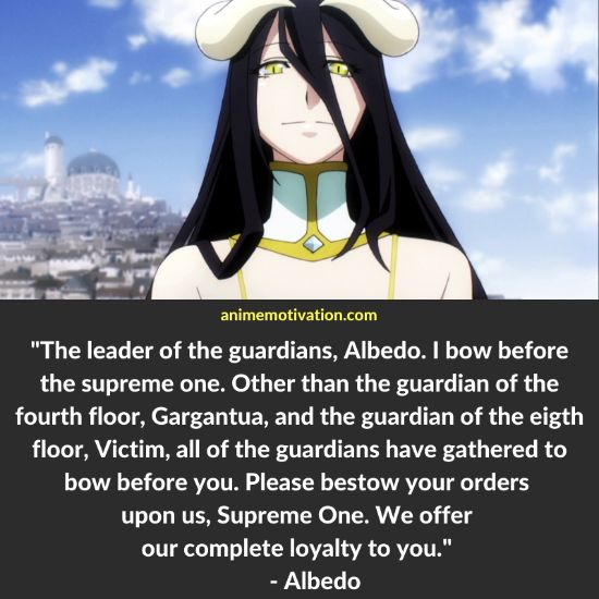 albedo overlord quotes 3