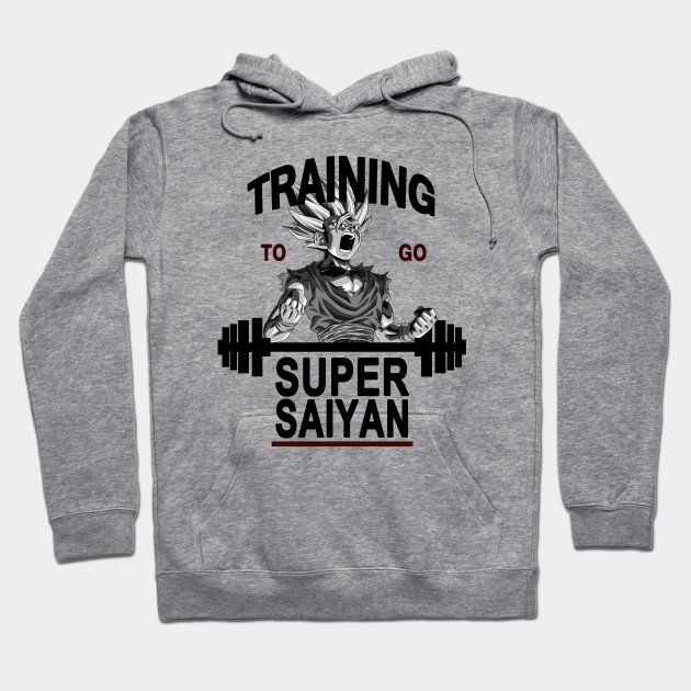 Training to go super saiyan Dragon Ball Z Hoodie