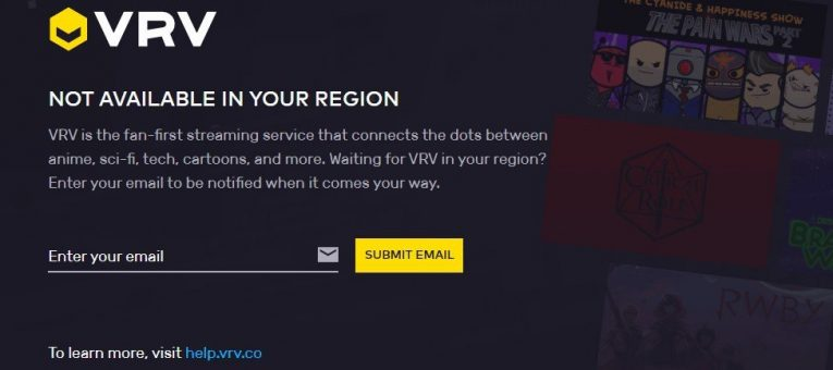 VRV not available in your country