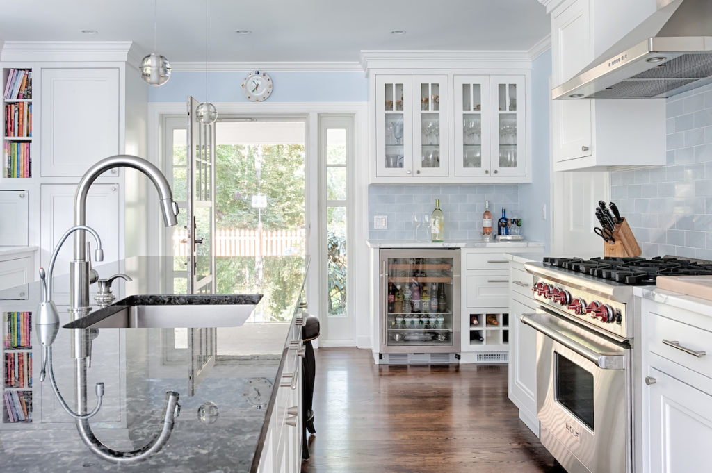 Blue and White custom Kitchen