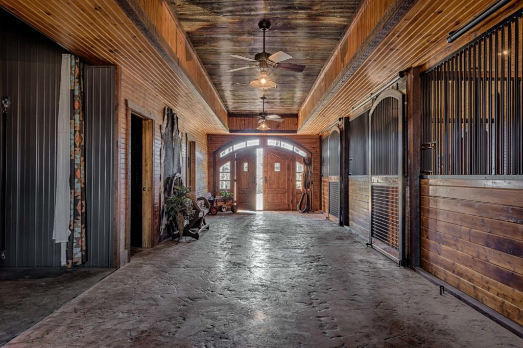 Interior of high-end stable
