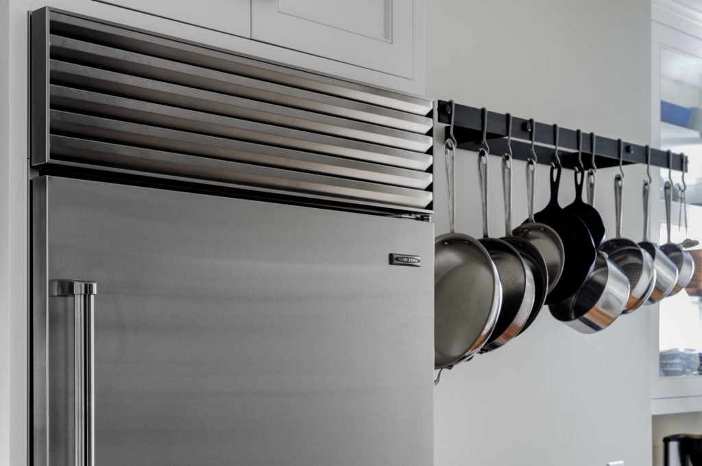 Residential Architecture Interior Kitchen sub-zero and pot rack