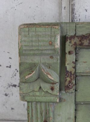 Nice old French window shutter.