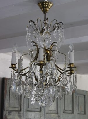 Beautiful Swedish prism chandelier from the beginning of the 20th century.