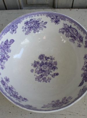 "Gustavsberg ""Purple pheasant"" bowl"