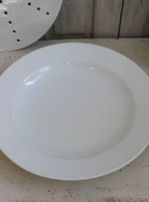Large heavy French porcelain dish.