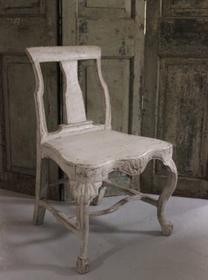 Swedish chair about 1800 with effect from the Baroque and Rococo.
