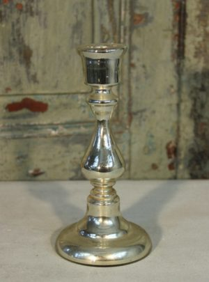 Beautiful old French poor man's silver candlestick.