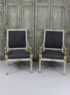 Couple of beautiful empire style chairs from the early 1900s.