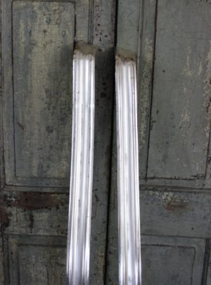 Pair of unique silver-plated French 19th century curtain carnis
