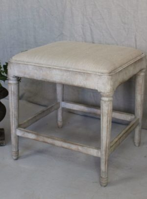 Beautiful Swedish stool in Gustavian style from the beginning of the 1900s.