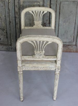 The most beautiful Swedish bench in Gustavian style from 1900.