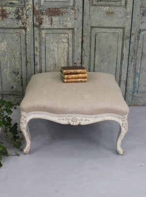 Unique large new rococo stool from the late 1800s.