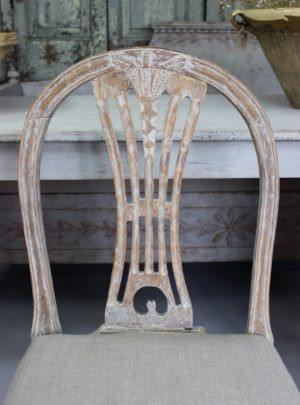 Original antique Gustavian chair from the 18/19th century.