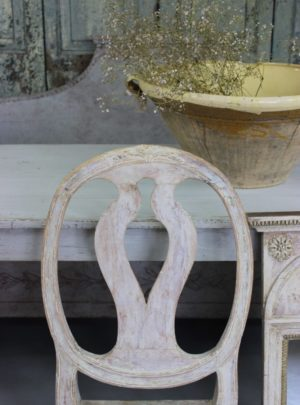 Original antique Gustavian chair from the 18th century.