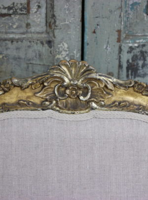 Pair of beautiful antique French rococo chairs from the mid-19th century.
