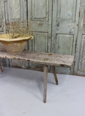 Beautiful rustic Swedish bench from the middle of the 19th century.