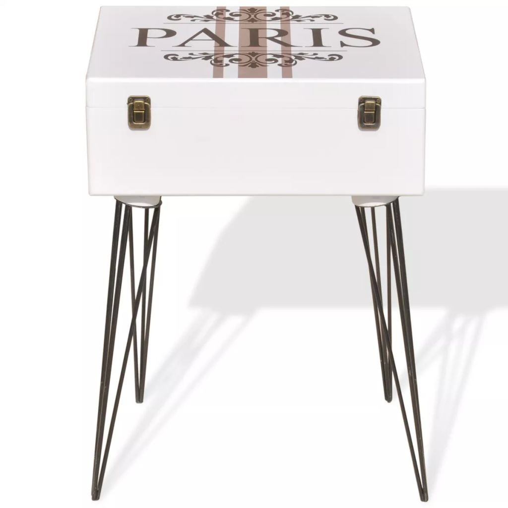 Retro Side Table Cabinet Storage Box Bedside Telephone Stand