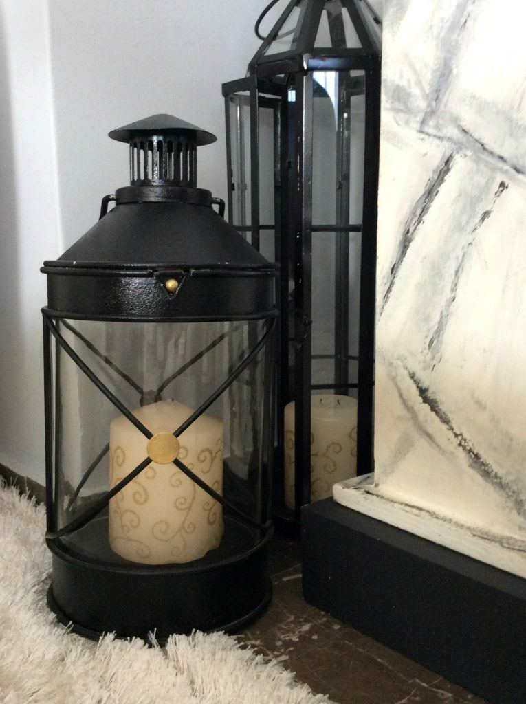 Nine tips to transition holiday decor to winter, black lanterns
