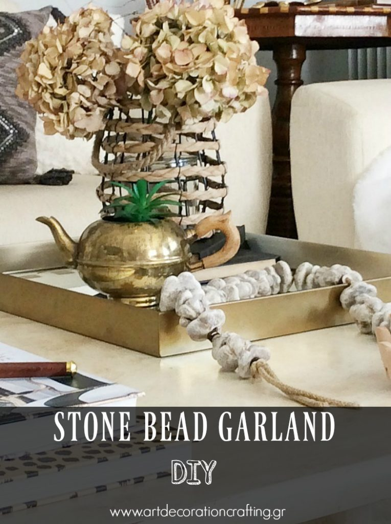 How to make your own stone garland, step by step instructions | Πέτρινη διακοσμητική γιρλάντα diy, οδηγίες βήμα-βήμα